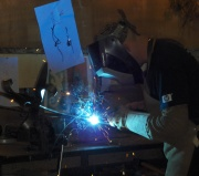 Chris Townsend welding